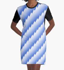Blue zigzags Graphic T-Shirt Dress