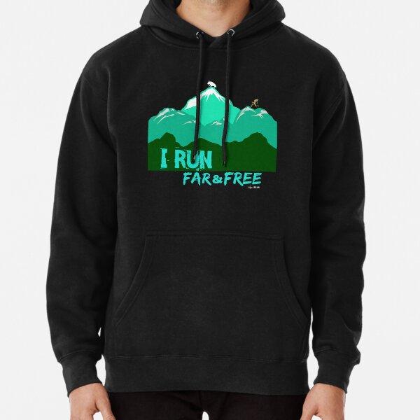 Kids // Childrens Hoodie Free Runner Free Running Keep Calm and Free Run