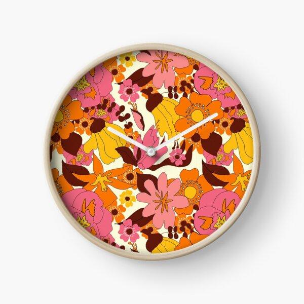 Retro New Zealand Floral Clock