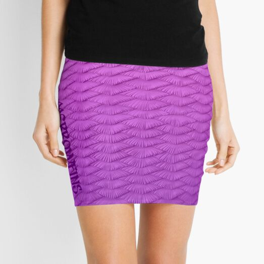 Pink Scaled Gradient  Mini Skirt