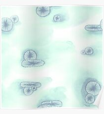 Watercolor Anemones Poster