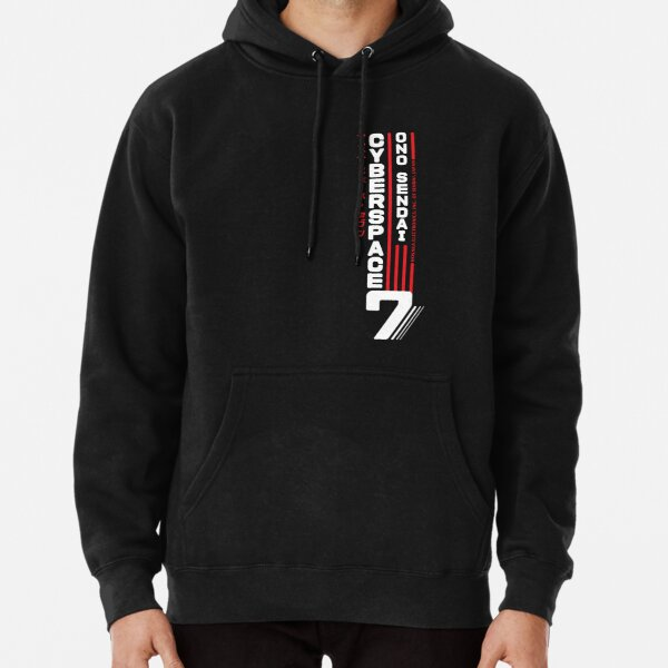 Hosaka Ono-Sendai Cyberpace 7 (White Vertical version) Pullover Hoodie