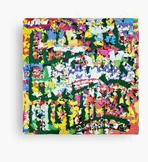 Happy Mondays - Thrills Pills n' Bellyaches Rocketted Canvas Print