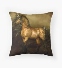 Shikoba - Choctaw Native American Horse Throw Pillow