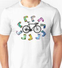 Sock doping cycling illustration Unisex T-Shirt