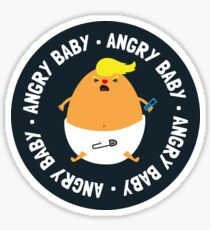 Funny Angry Baby - Trump Baby Sticker