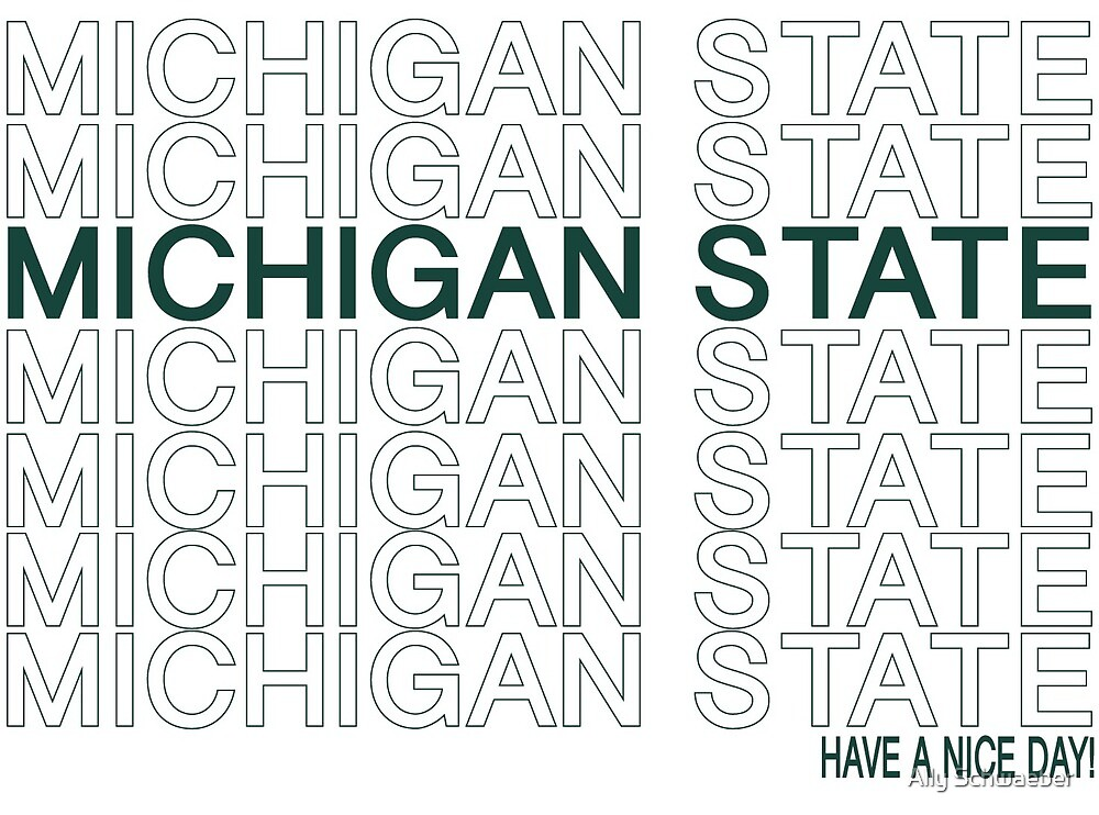 Michigan State Thank You by Ally Schwaeber