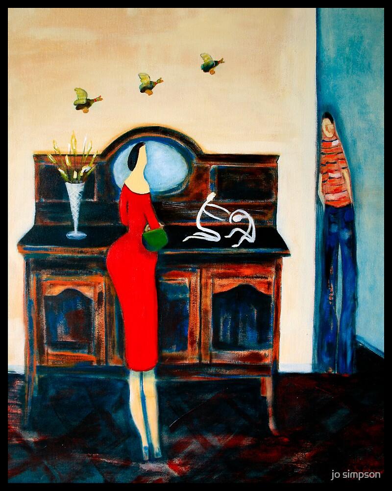 lady in Red Dress by jo simpson