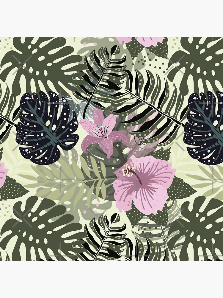 Abstract Aloha Tropical Foliage Pattern by UtArt