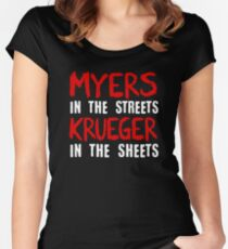 Myers in the streets - Krueger in the sheets Women's Fitted Scoop T-Shirt
