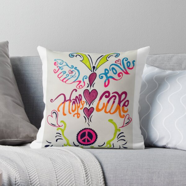 Bridgott's Mantra Throw Pillow