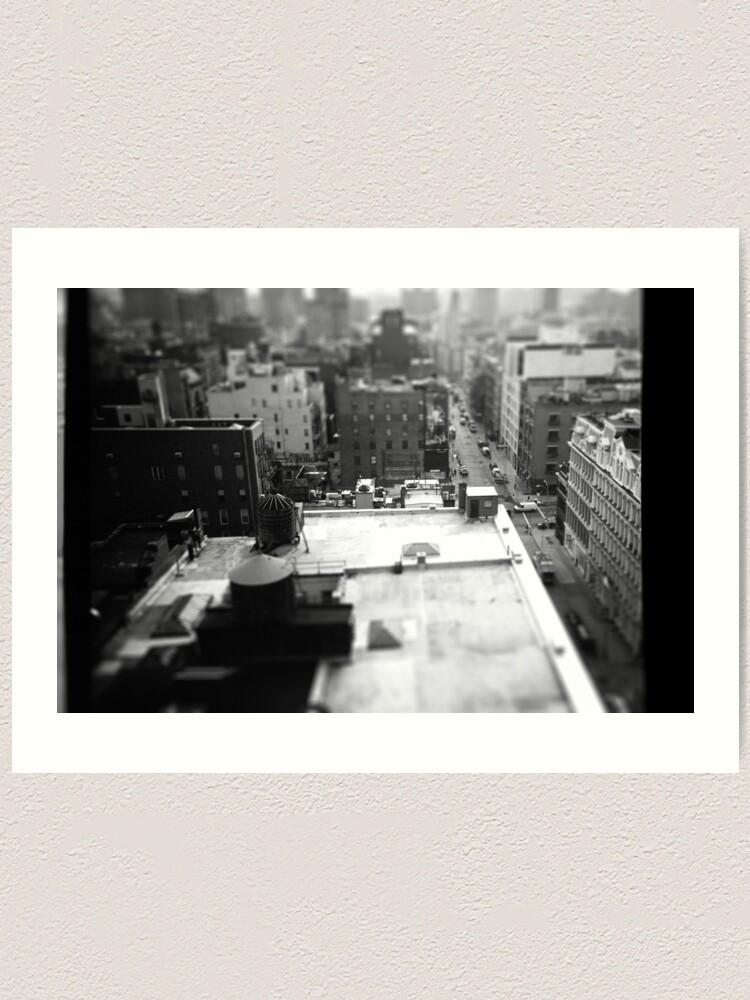 Alternate view of Balcony Tilt-Shift Art Print