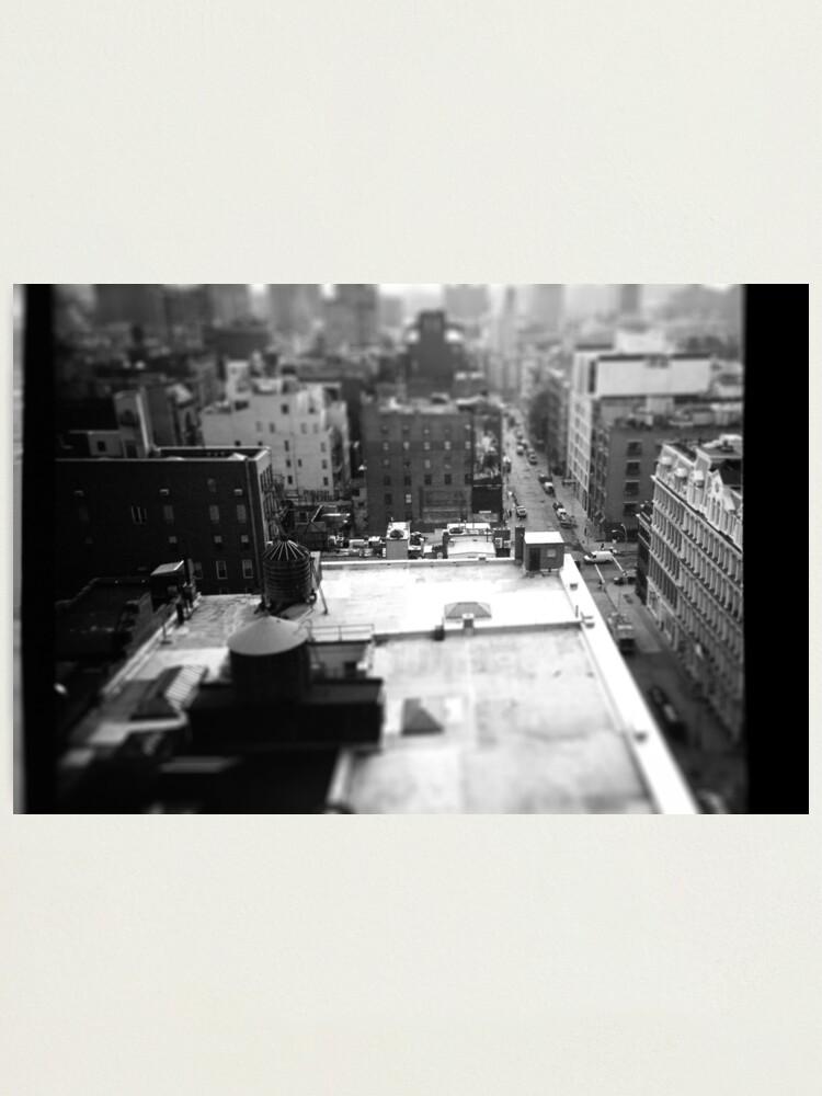 Alternate view of Balcony Tilt-Shift Photographic Print