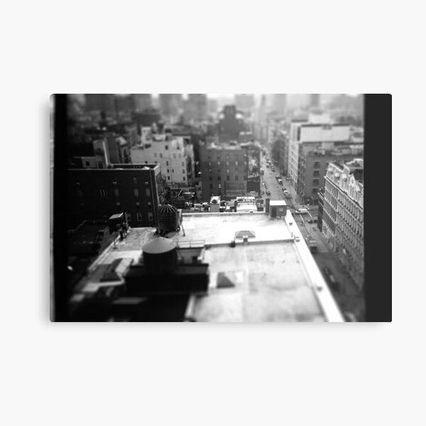 Balcony Tilt-Shift Metal Print