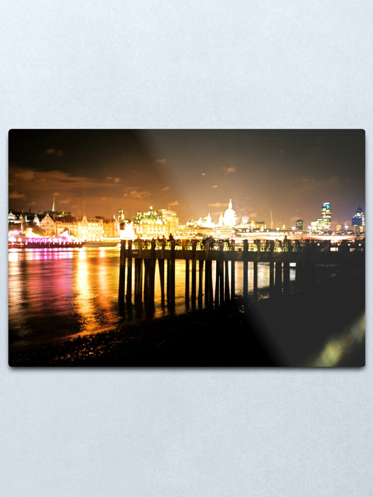 Alternate view of Southbank By Night Metal Print