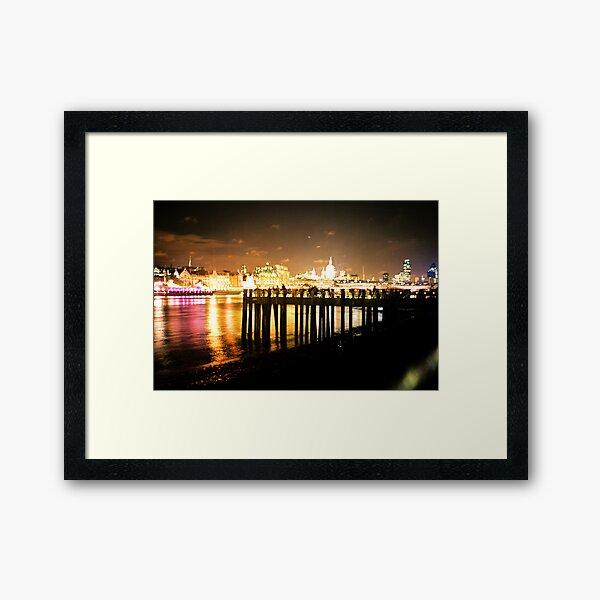 Southbank By Night Framed Art Print