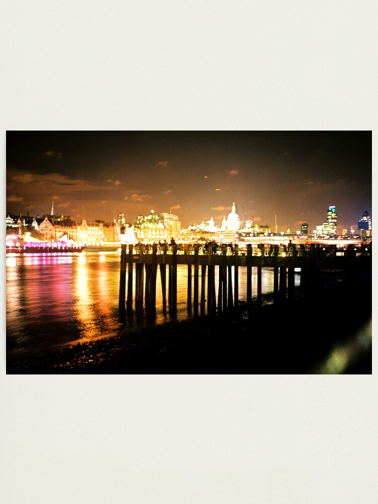 Alternate view of Southbank By Night Photographic Print