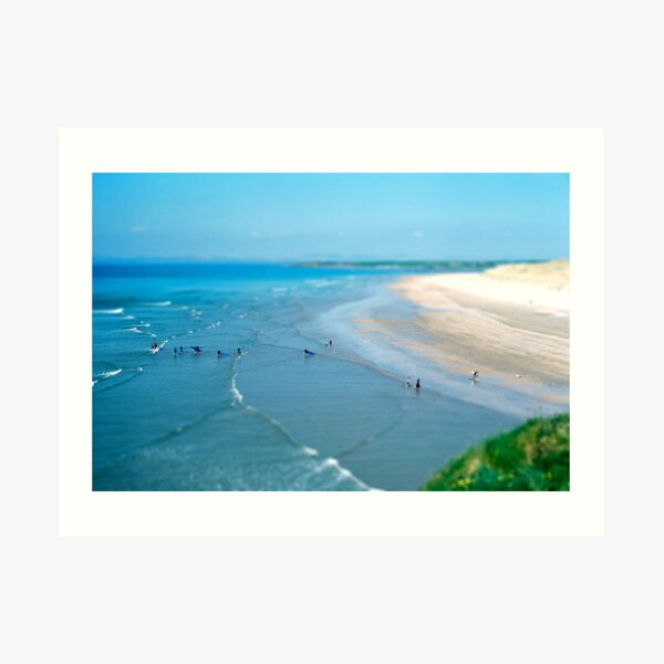 Tullan Strand Tilt-Shift Art Print