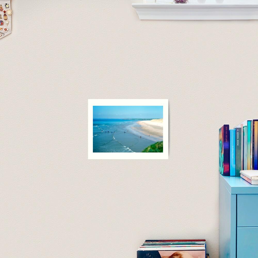 Tullan Strand Tilt-Shift Art Print