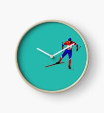 Cross-country skiing Clock
