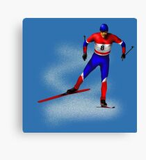 Cross-country skiing Canvas Print