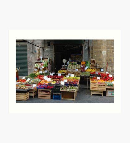 "City Life - ""Street Mercato"" Art Print"
