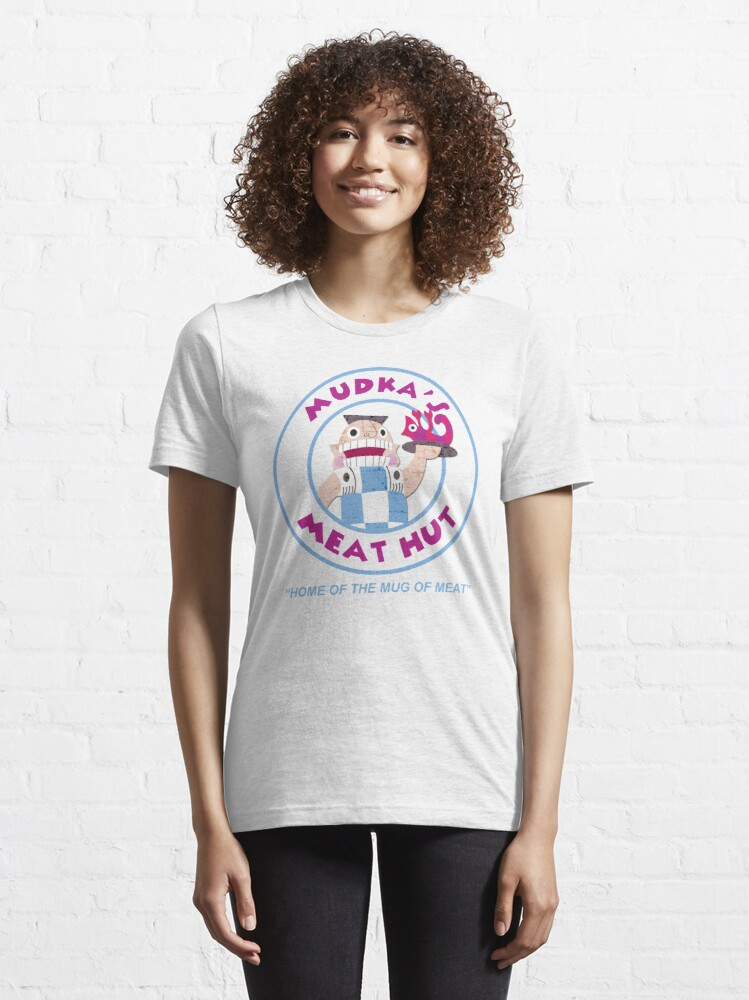 Alternate view of Mudka's Meat Hut Logo Essential T-Shirt