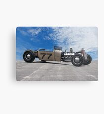 Rat Rod Roadster Pickup 'Lincoln Zephyr V12' Metal Print