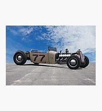 Rat Rod Roadster Pickup 'Lincoln Zephyr V12' Photographic Print
