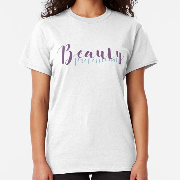 Beauty Professional - Lilac and Light Blue Classic T-Shirt