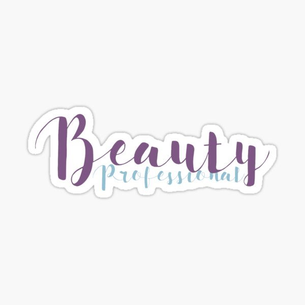 Beauty Professional - Lilac and Light Blue Sticker