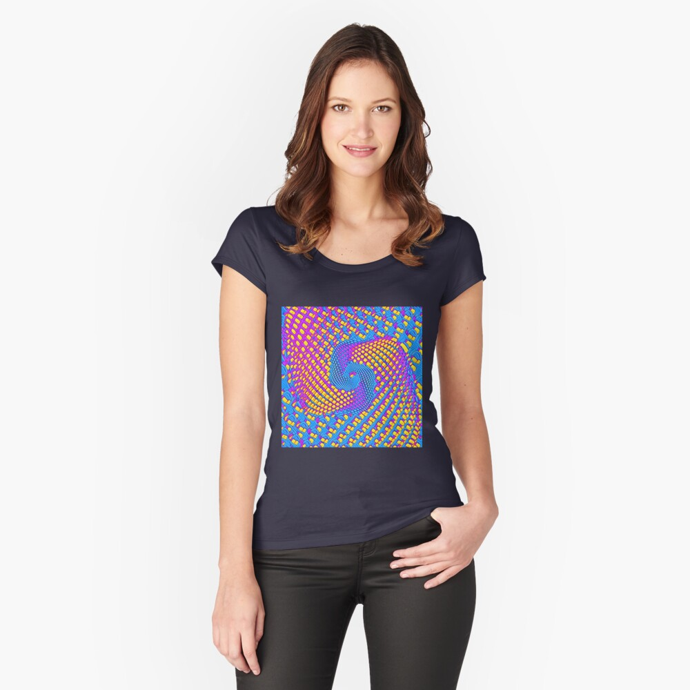 Cubism turbulence Fitted Scoop T-Shirt