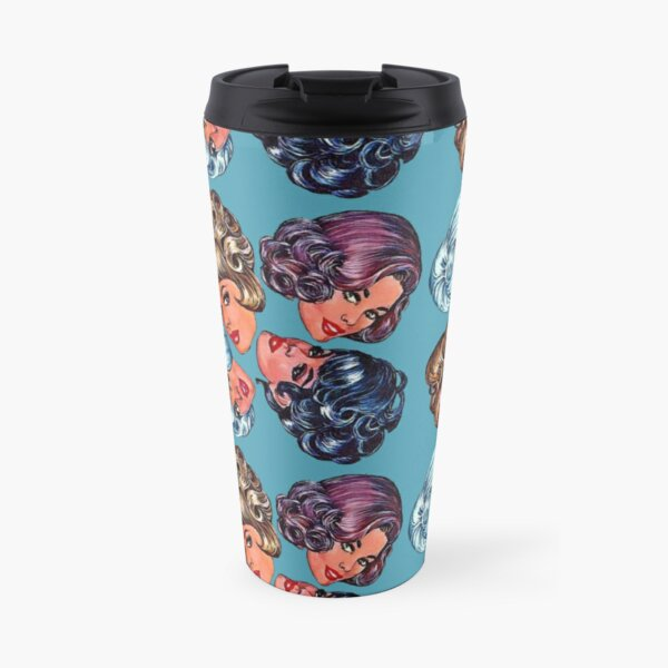 Wigging Out (Blue) Travel Mug