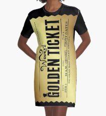 Wonkas Goldenes Ticket T-Shirt Kleid