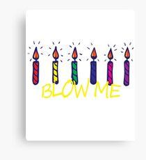 Birthday candles Happy Birthday Canvas Print