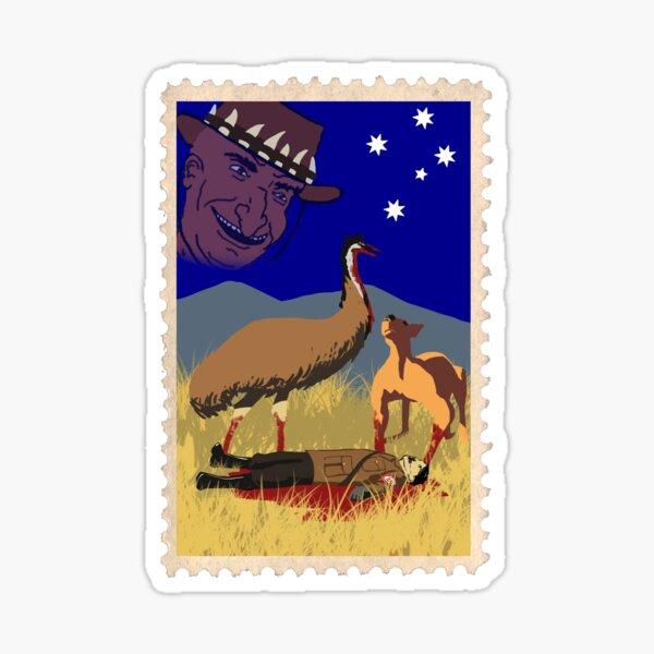 Victim of the Emu war Sticker