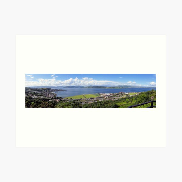 Gourock Greenock and the River Clyde Art Print