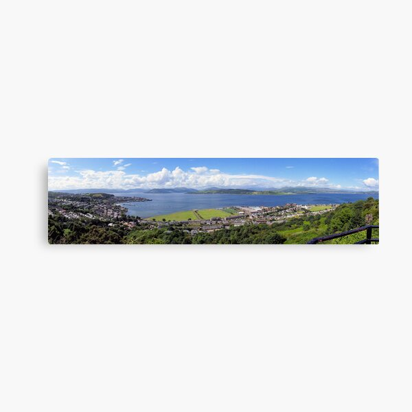 Gourock Greenock and the River Clyde Canvas Print