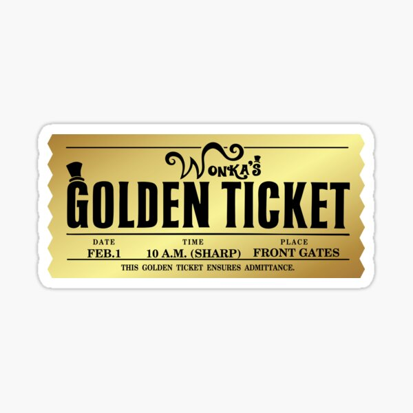 Wonka's Golden Ticket Sticker