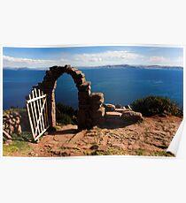 Old Gate On Lake Titticaca Poster