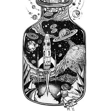 Space Run Tattoo art by Ruta