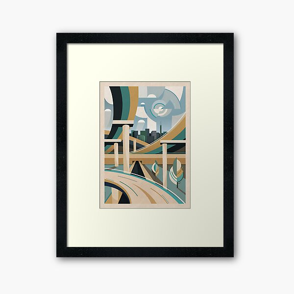 Spaghetti Junction Framed Art Print