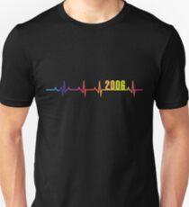2006 Herzschlag LGBT Pride Slim Fit T-Shirt