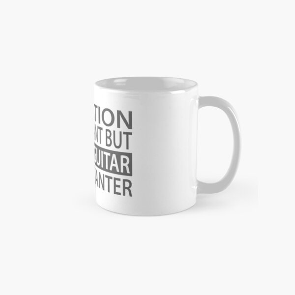 Education is important but playing guitar is importanter Classic Mug