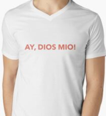 Dios mio spanish Men's V-Neck T-Shirt