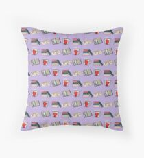 Bookish Things Throw Pillow