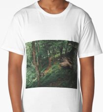 In To The Woods, Isle Of Mull  Long T-Shirt