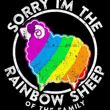 Cute Pride Rainbow Sheep Design LGBTQ Vintage by JannikGHG