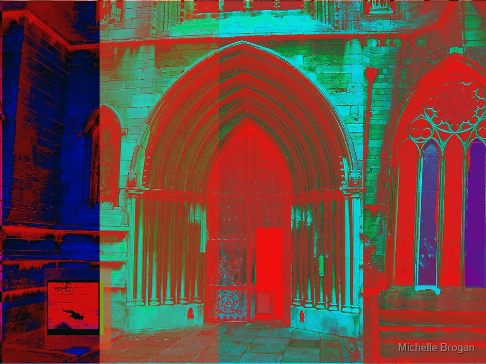Red and Blue Church by Michelle Brogan