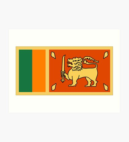 Sri Lanka, national id Art Print